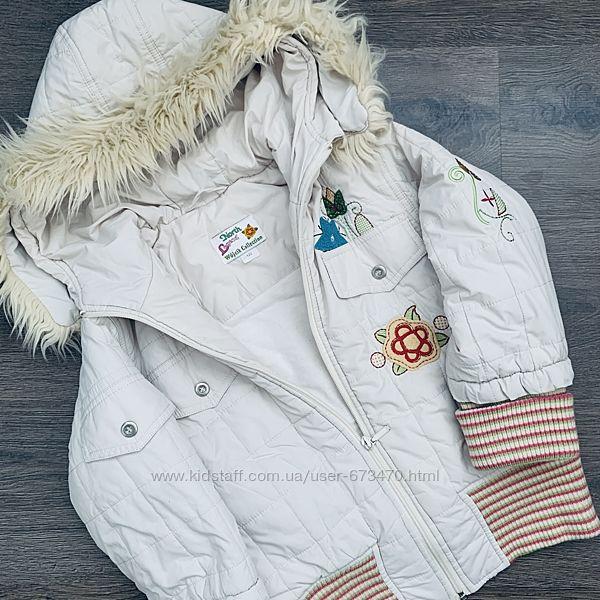 Яркая курточка Wojcik с капюшоном и вышивкой