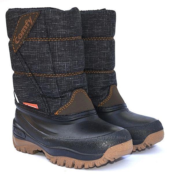 зимние сапоги demar comfy черные