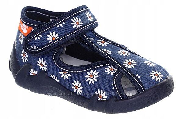 тапочки для девочек renbut с кожаными стельками
