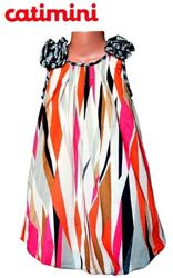 Платье сарафан детское летнее Catimini 4 г рост 98-104 см нарядное