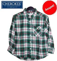 Рубашка детская байковая в клетку на 4-6 лет Cherokee, США