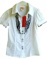 Блузка белая рубашка нарядная для девочки 6л 110-116 см бренд Chillipop США