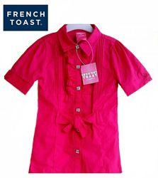 Блузка нарядная рубашка розовая 6 л рост 110-116 см бренд French Toast США