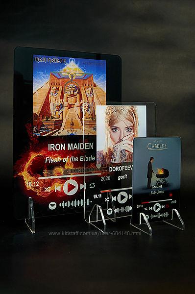 Постер с музыкой и кодом Spotify, Музыкальная трек-пластинка Спотифай акрил