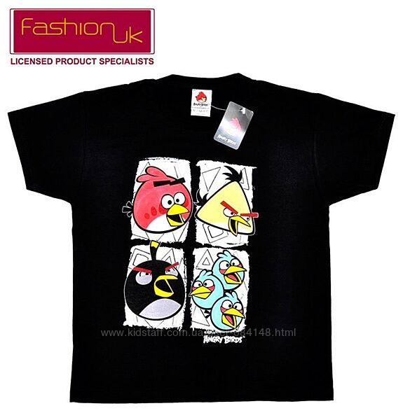 Футболка Angry Birds чёрная подростковая на 11-12л рост 152см Fashion UK-
