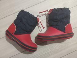 Утепленные сапоги Crocs c9. Размер 25-26. Crocband Lodgepoint Snow Boots.