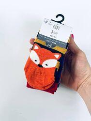 Носки George на 0-6  наборы в роддом  мальчикам унисекс