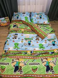 Детское постельное тачки майнкрафт