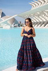 Платье пляжное макси с натурального шёлка Indiano 21A-205  в наличии