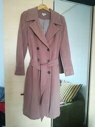 Демисезонное пальто шерсть под пояс на запах