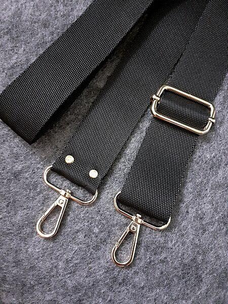 Чёрный ремень для сумки
