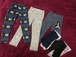 Пакет для девочки лосины и колготки, зима, 110 размер