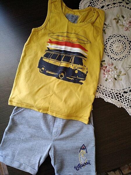 Літній комплект шорти і майка Фламінго 116-122