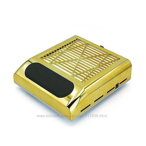 Вытяжка для маникюра с HEPA фильтром BQ-858-8, 80Вт, Золотая