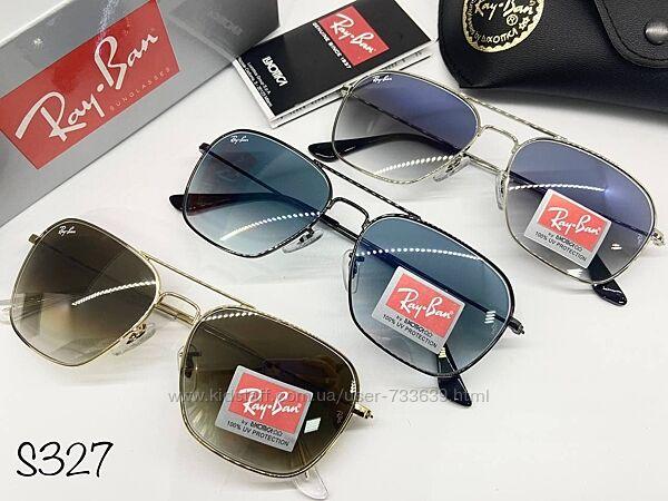 Стильные солнцезащитные очки Ry Bn минеральное стекло разные цвета
