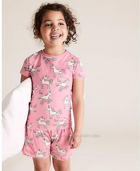 Детская пижама для девочки marks & spencer 5-6 и 6-7 лет