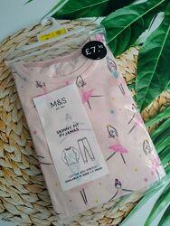 Детская пижама для девочки marks & spencer  6-7 лет