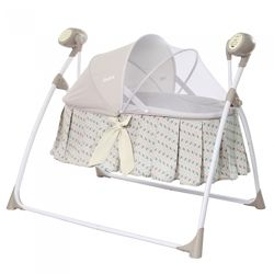 Кроватка люлька колыбель с укачиванием CARRELLO Dolce, от сети