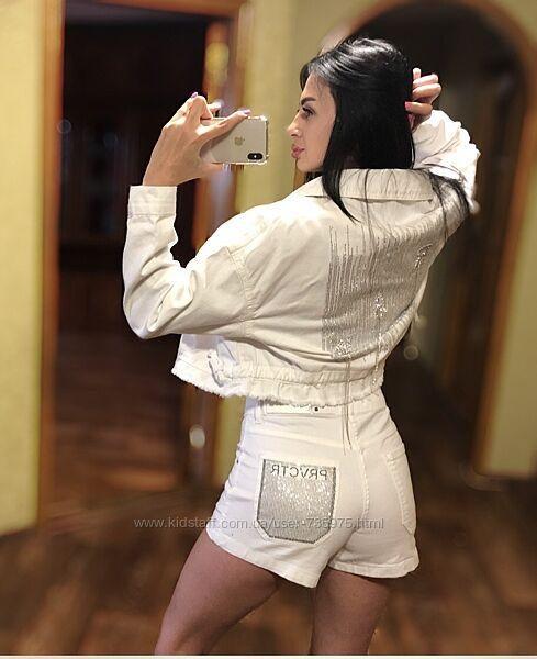 Стильная женская турецкая джинсовая куртка L/XL