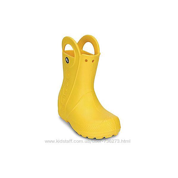 Сапожки Crocs оригинал желтые новые поступления