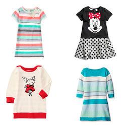 Трикотажные хлопковые платья для девочек от 3 до 5 лет