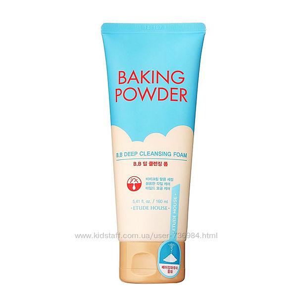 Пенка для удаления макияжа Etude House Baking Powder BB Deep Cleansing Foam