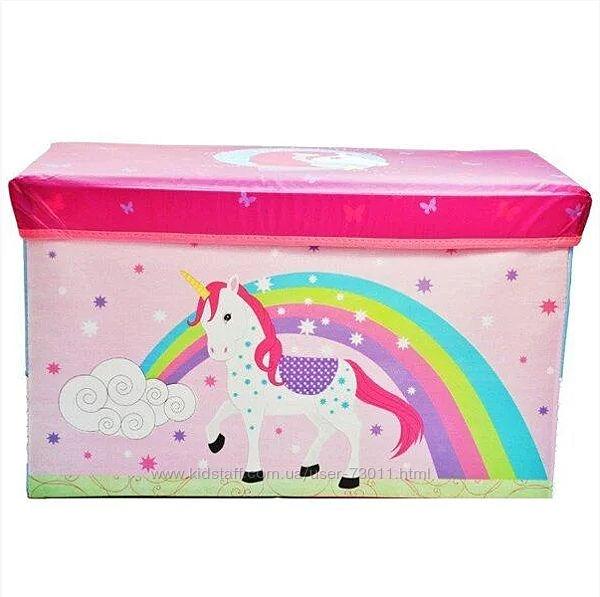 Детский пуф корзина для игрушек Единорог арт. 44348
