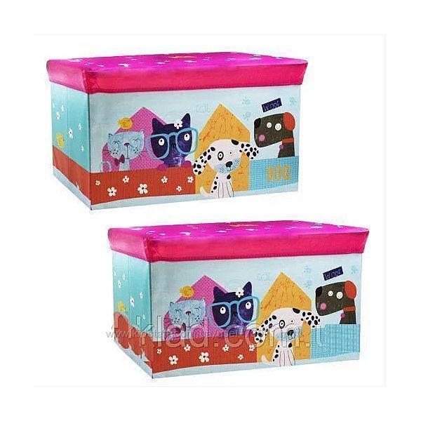 Детский пуф корзина для игрушек Собачки арт. 44348