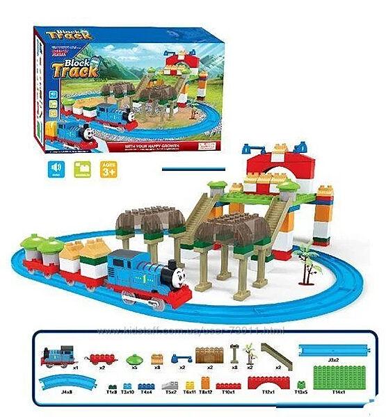 Железная дорога-конструктор с паровозиком Томас арт. 599-4 A 95 деталей