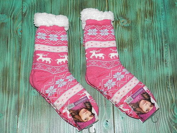 Шкарпетки зі стоперами на овчинці