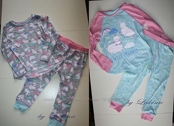 Яркие и нежные пижамы для девочек Matalan