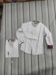 Белая стильная  подростковая рубашка