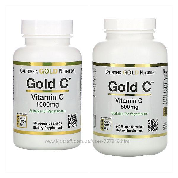 Витамин С CGN 500 мг 1000 мг, 60 и 240 шт
