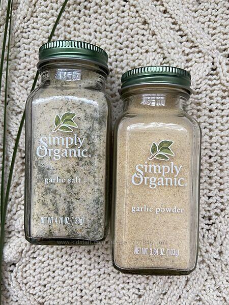 Чесночная соль Simply organic, чеснок в порошке