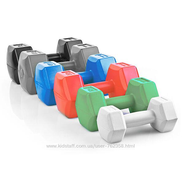 цена за 2 шт Гантели для фитнеса 1кг, 2кг, 3кг 4кг, 5кг, 6кг, композитные