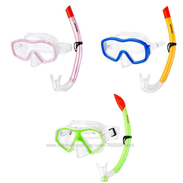 Детская маска с трубкой для плавания, ныряния, набор для плавания
