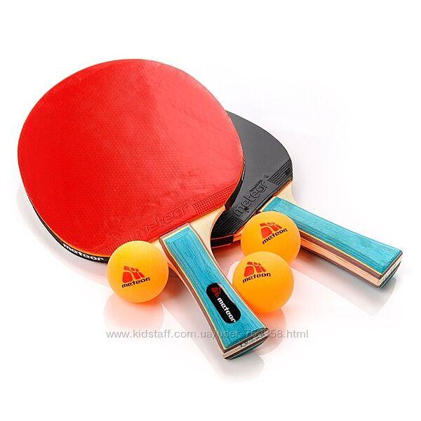 Набор для настольного тенниса Meteor Zephyr 2 ракетки3 мячика