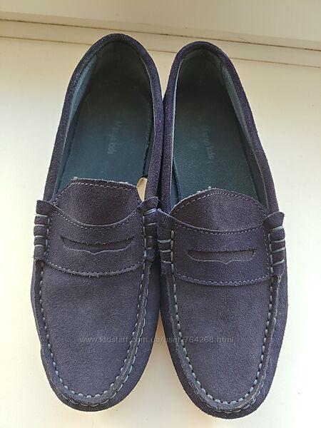 Мокасины натуральная замша, туфли в школу Mango