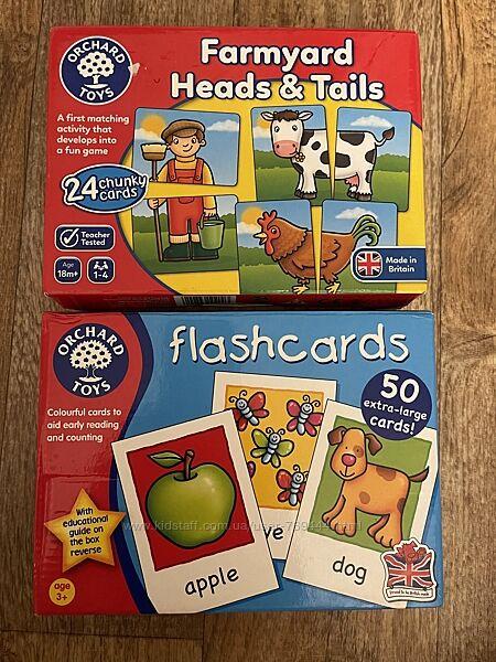 Orchard toys карточки пазлы половинки ферма животные учимся читать