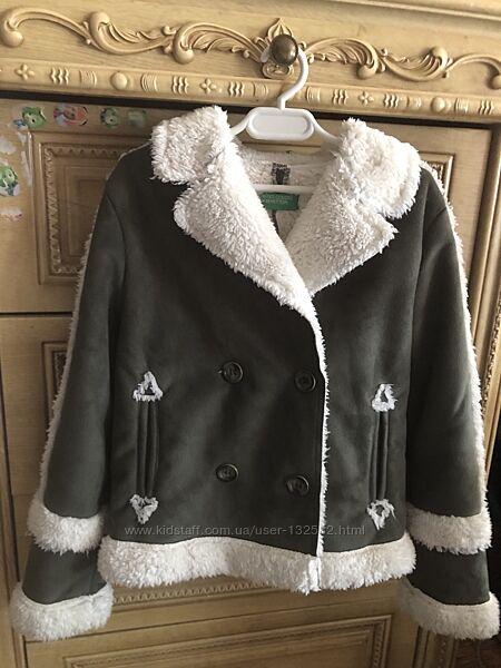 Пальто куртка дубленка Benetton 8лет
