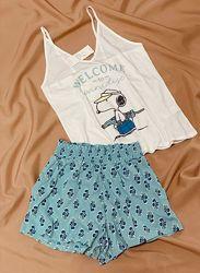 Жіноча зручна якісна піжама майка і шорти Snoopy Women&acutesecret