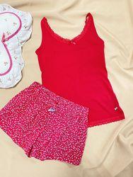 Качественная стильная пижама для девушки шорты майка Esmara