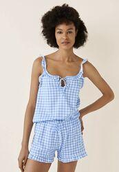Піжама в клітинку шорти майка якісний домашній одяг Women&acutesecret
