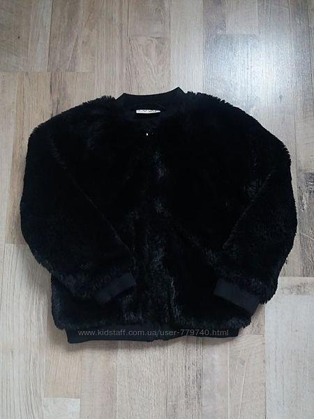 Демисезонное пальто меховушка на девочку Next 3года.