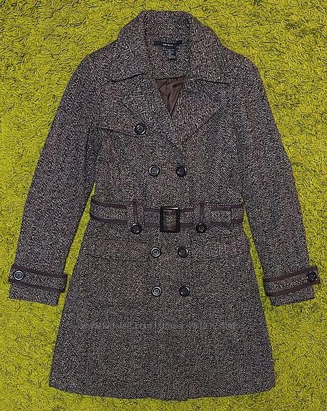 Двубортное пальто Zara S р.