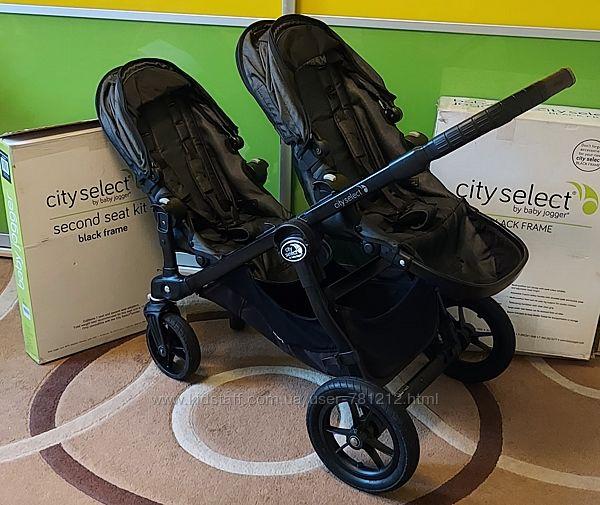 Классная коляска для двойни или погодок Baby Jogger City Select.