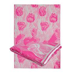 одеяло из хлопка 170х205 Тм Ярослав зеленое, розовое