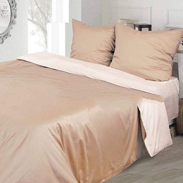 Комплект постельного белья сатин кремовый