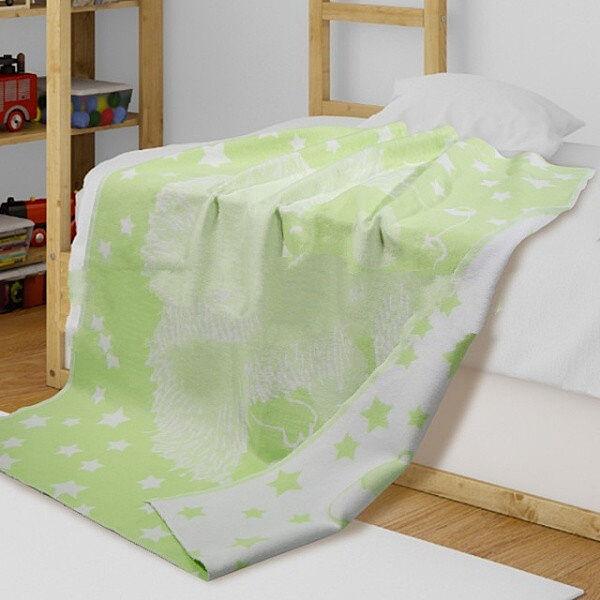 Детское одеяло хлопок салатовое