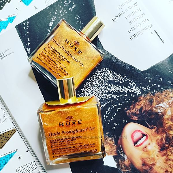 Сухое золотое масло Nuxe Prodigieuse Care Multi Usage Dry Oil Golden Shimme